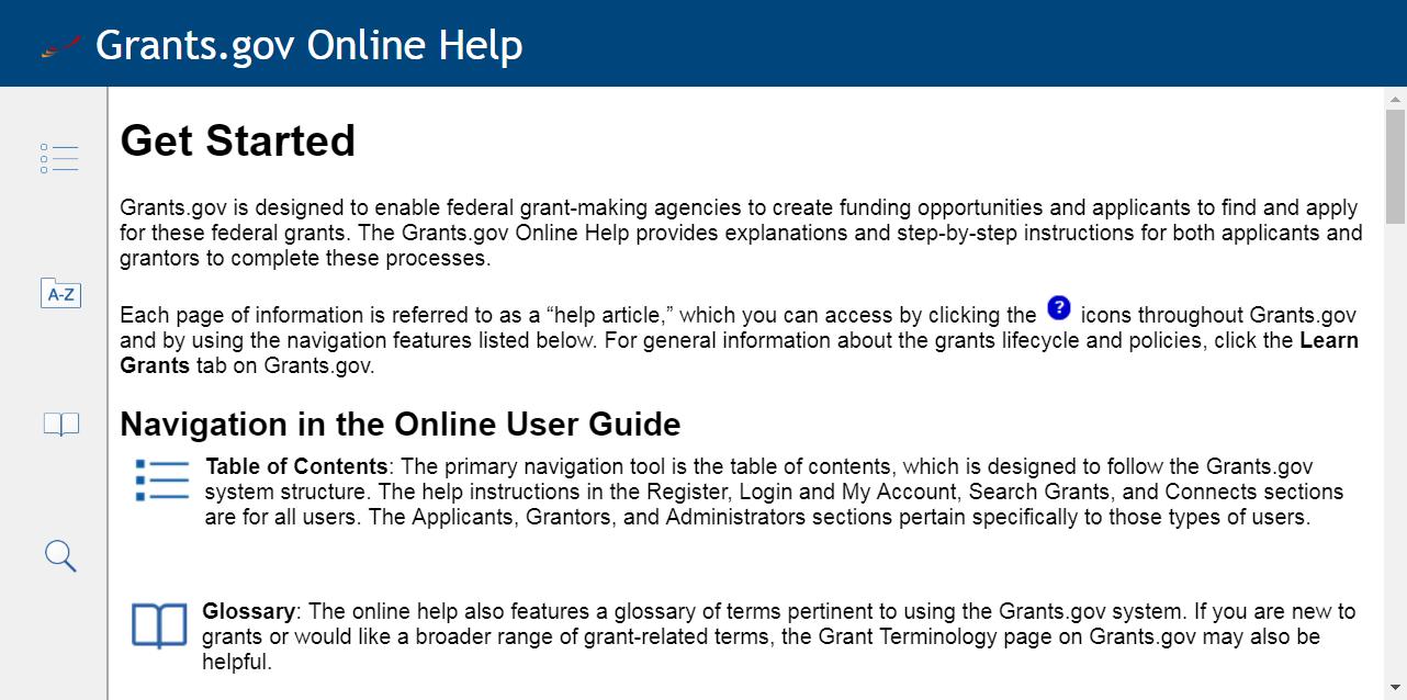 Grants Online Help